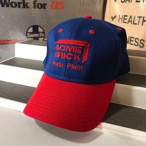 Acme Brick NWOT Logo Perla Plant Baseball Hat